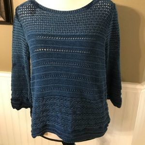 White House Black Market Knit Sweater in Teal
